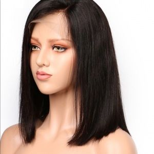 Pre -plucked shoulder length lace front wig